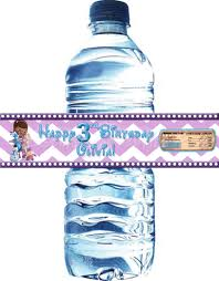 waterbottle labels mcstuffin water bottle labels