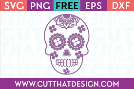 Use by itself or copy and mirror it for a toast. Free Svg Files Sugar Skull Archives Cut That Design