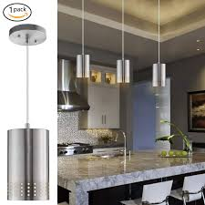 lanros adjule mini pendant light with perforated cylindrical metal shade