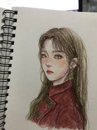 sudenazerkin kpop fanartcool artawesome artdrawing sketchesart drawingsred queenkdramaart