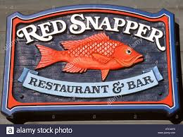 red snapper logo. red snapper restaurant sign, old fisherman\u0027s wharf, monterey, california, usa logo