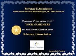 Solvency Ii Association Member Benefits