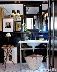 Black Lacquered Bathroom House Beautiful Pinterest Favorite Pins