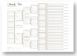 blank pedigree chart 4 generation a3 blank family tree charts