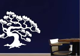 forest pine tree silhouette wall stickers