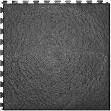perfection floor tile 6 piece 20 in x 20 in dark gray slate
