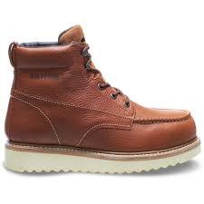 wolverine men s work wedge 9ew tan full grain leather steel toe 6 boot