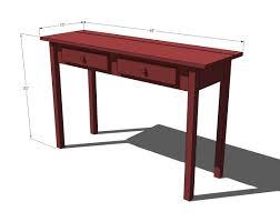 sofa table plans. Sofa Table Plans L