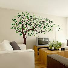 amazon pop decors removable vinyl art wall decals mural tree blowing in the wind baby on vinyl wall art tree decals with amazon pop decors removable vinyl art wall decals mural tree