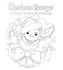 Coloring is essential to the overall. A Very Monkey Christmas Coloring Page Kids Pbs Kids For Parents