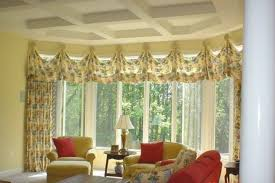 Living Room Bay Window Designs Living Room Mid Century Interior With White Bay Windows Also