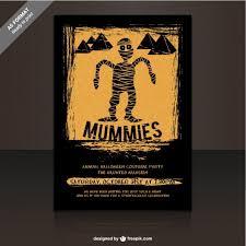 Halloween Dance Flyer Templates Mummies Party Flyer Template For Halloween Vector Free