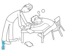 Small Picture Sleeping student coloring pages Hellokidscom