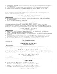 Millwright Resume Example Sample Resume For Mechanical Technician