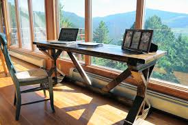 heres a diy project build a rustic deck for just 60 worth of wood build rustic office desk