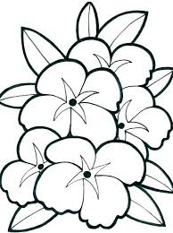 Easy Coloring Pages Of Flowers Easy Printable Coloring Pages Wer In