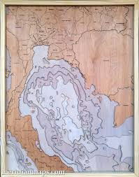Wood Bathymetric Charts Map Our Latest Creation Gulf Of Thailand A 3d Wood Map