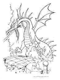 Small Picture Sleeping Beauty Dragon Coloring Pages Coloring Pages