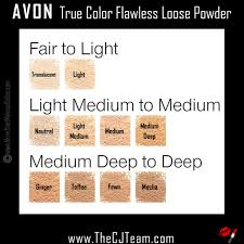 Avon Foundation Colour Chart True Color Flawless Loose Powder Chart More Than Makeup Online