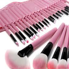 32 pcs cosmetic make up brush kit make up brushes tools set with leather case professional makeup artist used brushs
