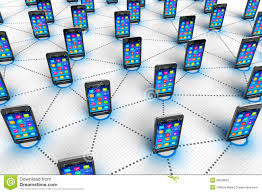 social network and mobilie communication concept stock image royalty stock photo
