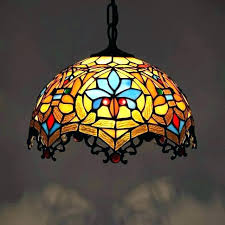 stained glass hanging stained glass hanging light fixtures stain glass hanging lights retro colorful lamp stained