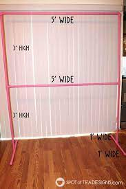 diy party backdrop stand guest post