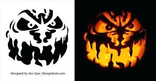 Scary Pumpkin Carving Patterns Custom 48 Scary Pumpkin Carving Stencils Patterns Ideas Carvings Pinterest