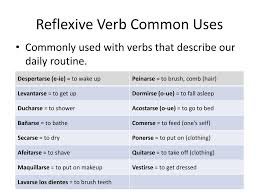 Ppt Reflexive Verbs Powerpoint Presentation Free Download