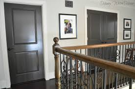 How To how to paint a door with a roller images : Painted Dark Grey Doors | Honey We're Home