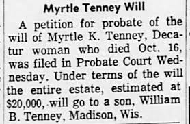Myrtle Knight Tenney will, Oct 25, 1963 - Newspapers.com