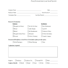 employee termination form template termination form template employment termination form template best