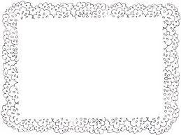 フリー素材フレームモノトーンのガーリーな北欧風レースの飾り枠640