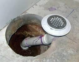 basement shower drain bathroom installation in concrete slab diagram new b shower drain