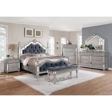 Silver Orchid Olivia Glam Grey 4 Piece Bedroom Set