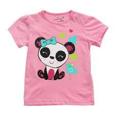 Little Maven Size Chart Little Maven Baby Girl Children Panda Red Cotton Short Sleeve T Shirt Top
