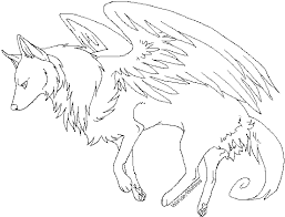 Small Picture Winged wolf coloring pages ColoringStar