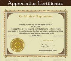 Best Certificate Templates 32 Best Certificate Of Appreciation Images Certificate Of
