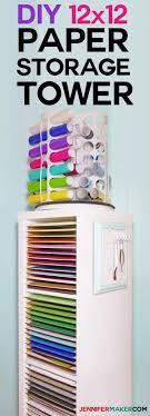 diy 12x12 sbook paper storage organizer tower ikea