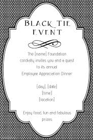 Fancy Black Tie Event Invitation Announcement Poster Flyer Template