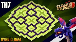 Base 7 New Ultimate Th7 Hybrid Trophy Defense Base 2019 Town Hall 7 Hybrid Base Design Clash Of Clans
