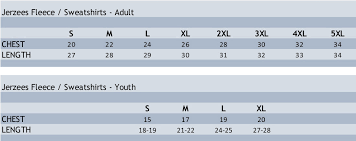 37 Reasonable Youth Size Chart For Hoodies