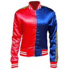 harley quinn squad leather jacket for women