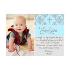 Baby Boy Thank You Cards 30 Thank You Cards Baby Boy Baptism Christening With Photo Notes