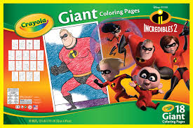 These disney coloring pdf pages are great party activities too. Crayola Giant Coloring Pages Featuring Disney S Incredibles 2 Walmart Com Walmart Com