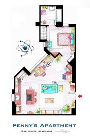 artsy architectural apartment floor plans from tv shows 9 floor plans of homes from famous