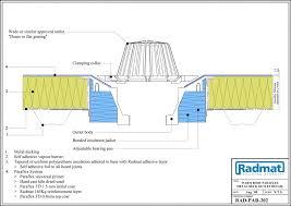 cad details warm roof metal deck detail