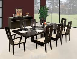 Wood Modern Dining Table - Brown dining room chairs