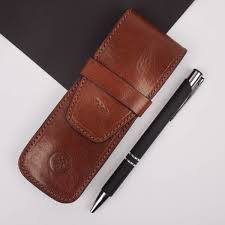 original the finest personalised luxury leather pen holder jpg