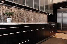 kitchen backsplash glass tile dark cabinets. Simple Cabinets Dark Cabinets Glass Backsplash Tile In Kitchen A
